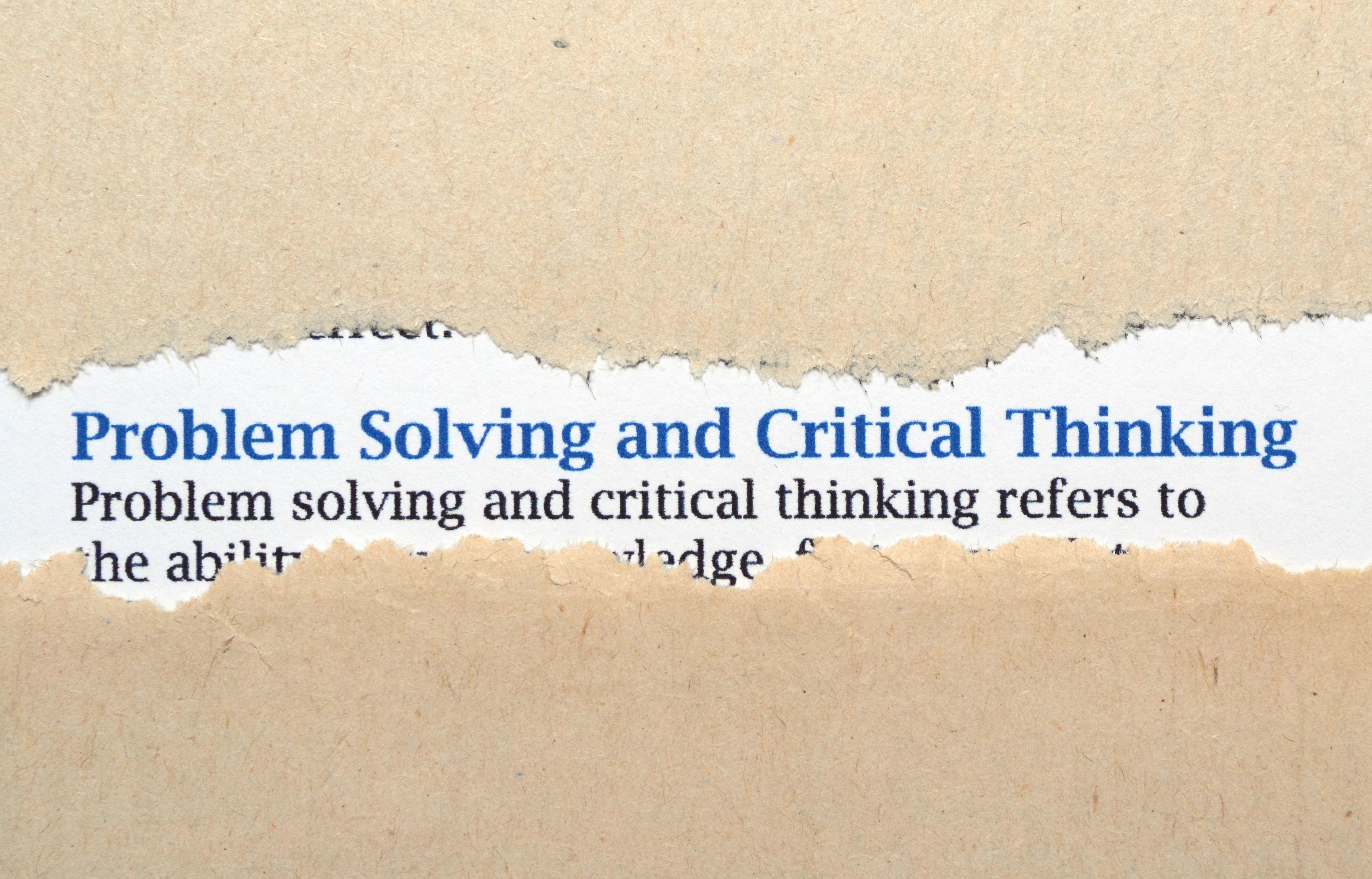 Problem saving strategies